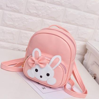 Kids Bags Girls Mini Backpack Children's Cute Bunny Cartoon School Leather Bags
