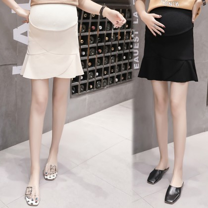 Maternity Clothing Skirts Fishtail Cotton Stomach Lift Pregnancy Postpartum Wear