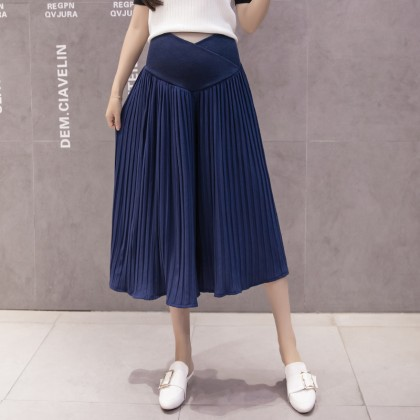 Maternity Clothing Pants Chiffon  Pregnancy Pleated Loose Wide Leg Summer Long