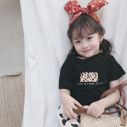 Kids Clothing Girls Tops Short Sleeved Cotton Summer Clothers T- Shirts Outwear