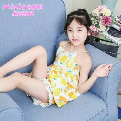 Kids Clothing Girls Sleepwear Soft Cotton Children's Night Wear Cute Printed