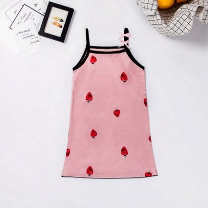 Kids Clothing Girls Sleepwear Night Wear Dress Children's Silk Soft Cotton Wear