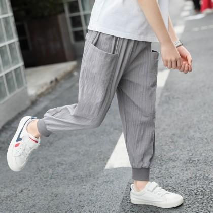 Kids Clothing Boys Bottoms Children's Cotton Summer Jogger Pants Male Outwear