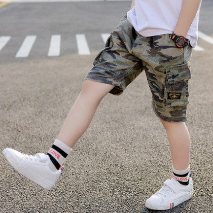 Kids Clothing Boys Bottoms Male Children's Camouflage Shorts Knee Length Outwear