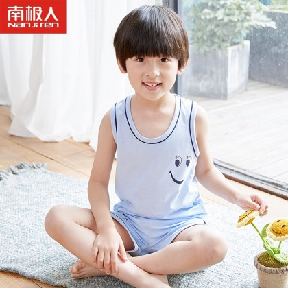 Kids Clothing Boys Sleepwear Soft Cotton Children's Night Wear Shirt Sleeveless