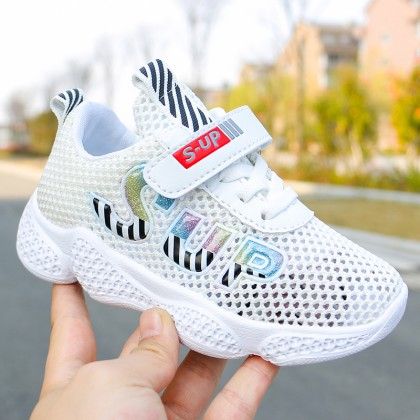 Kids Shoes Girls Mesh Children's  Rubber Sneakers Sport Wear Running Shoes