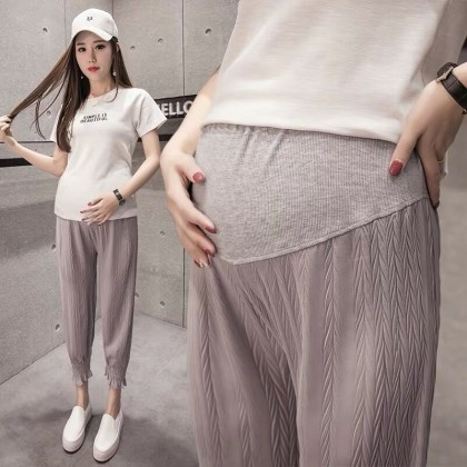Maternity Clothing Pants Comfortable Pregnancy Wear Soft Cotton Summer Outfits