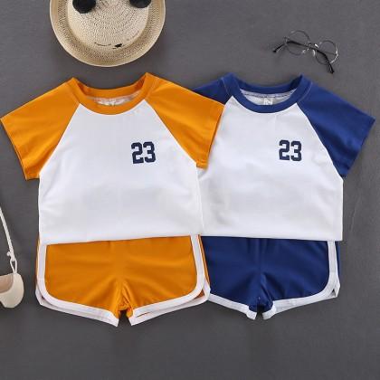 Kids Clothing Boys Sets Summer Sports Cotton T- Shirts Shorts Children Outwear