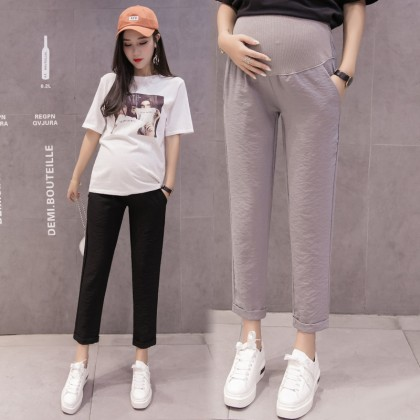 Maternity Clothing Pants Cotton Stomach Lift Stretchable Pregnant Women Outfits