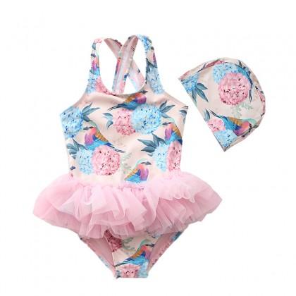 Baby Clothing Swimwear Children's One Piece Cute Girls Beach With Bow Wear