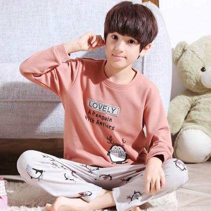Kids Clothing Boys Sleepwear Long Sleeved Sweater Pajamas Cartoon Prints Wear