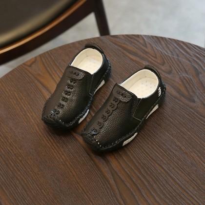 Kids Shoes Boys Flats School Children's Casual Leather Soft Bottom Footwear