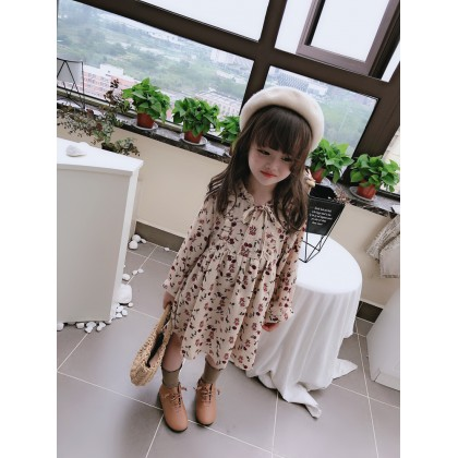 Kids Clothing Dress Girls Long  Sleeved Female Children's Outfits
