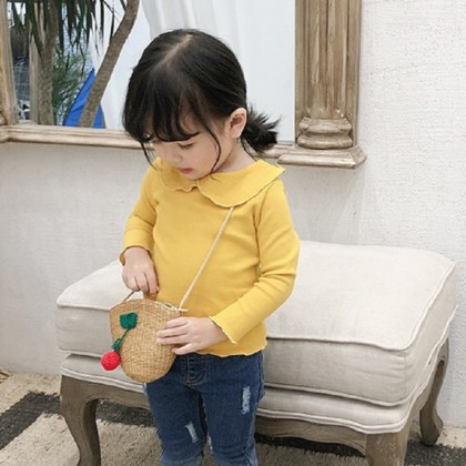 Kids Clothing Tops Pullover Doll Collar Children's Girls Spring Outwear