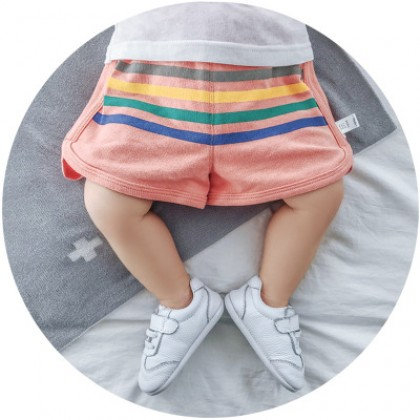 Baby Clothing Casual Front Stripes Newborn Shorts Cotton