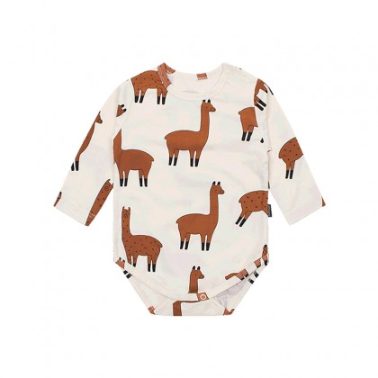 Baby Clothing Full Print Alpaca Baby Triangle Climbing Suit