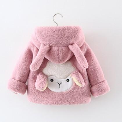 Baby Clothing Cotton Velvet Warm Padded Jacket