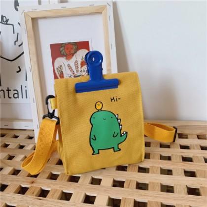 Kids Bag Cute Dinosaur Printed with Hi Travel Shoulder Bag