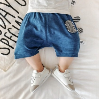 Baby Clothing Cotton Solid Color Summer Shorts