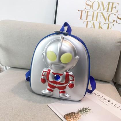Kids Boys Soft Handle Cartoon Anime Embossed Schoolbag