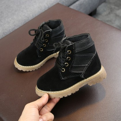 Kids Suede Student Military Training Low Boots
