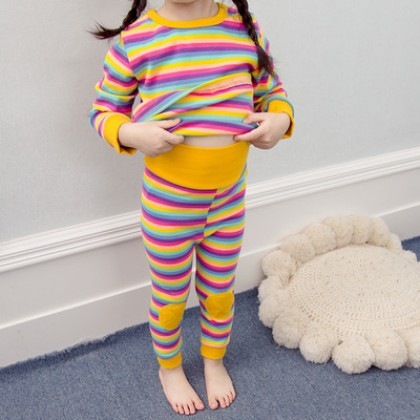 Kids Cotton High Waist Belly Protection Sleepwear