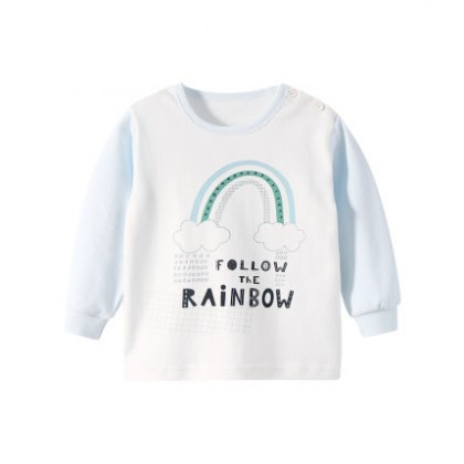 Baby Clothing Cotton One-piece Rainbow Shirt