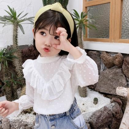 Kids Clothing Long Sleeve Lace Shirt