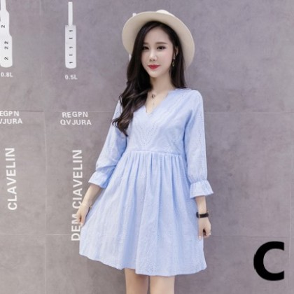 Maternity Clothing Comfortable Mid-Length Spring Dress