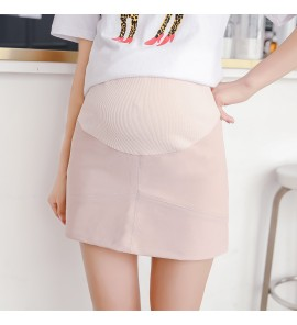 Women Pink Office Working OL Formal Hips Short Maternity Skirt