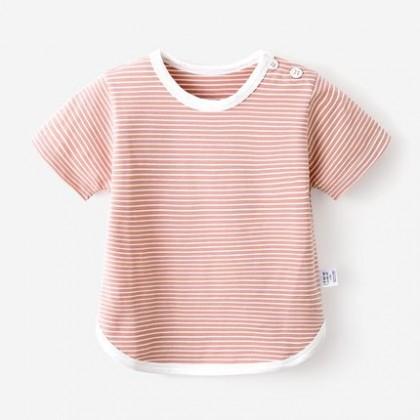 Kids Clothing Girl Princess Short Sleeve Striped Shirt