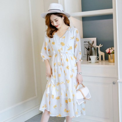Maternity Clothing Chiffon Loose A-line Nursing Dress