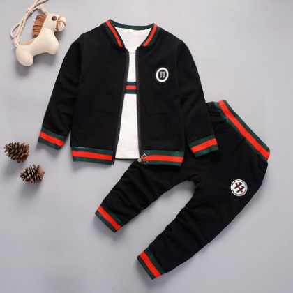Kids Clothing Summer Long-sleeved Sports Jacket and Pants