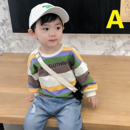 Kids Clothing New Color Striped Boys Sweater