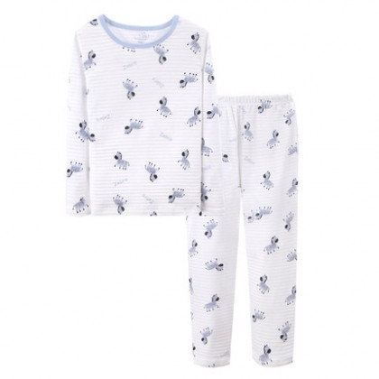 Kids Clothing Boy Pajama Set Zebra Pattern Print