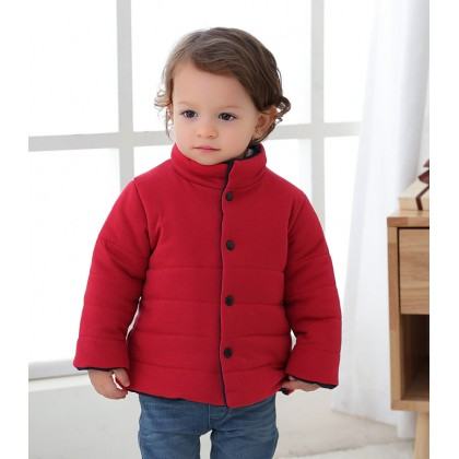 Baby Clothing Cotton Cotton-padded Casual Warm Jackets