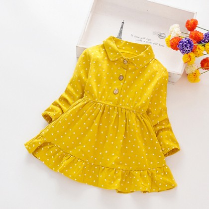 Kids Clothing Girl Polka Dot Cotton Princess Skirt Dress