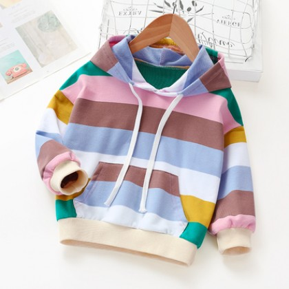 Kids Clothing Rainbow Striped Cotton Shirt