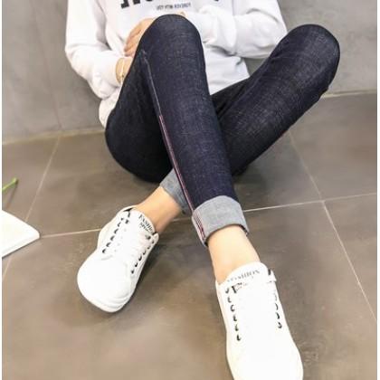 Women Adjustable Elastic Pregnancy Denim Long Jeans Maternity Pants