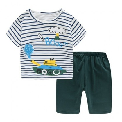 Kids Clothing Boy Fashion Short-sleeved Shirt and Pajamas