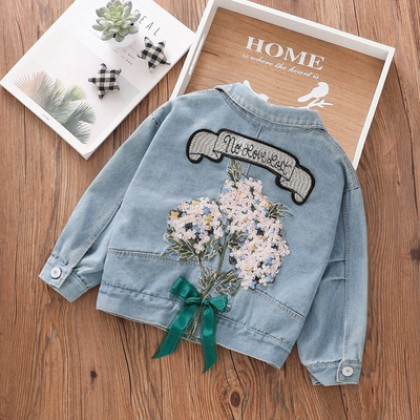 Kids Clothing Long-sleeved Washed Denim Comfortable Jacket