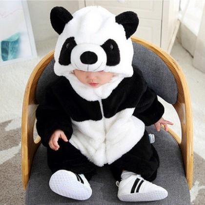 Baby Clothing Cute Panda Warm Jumpsuit