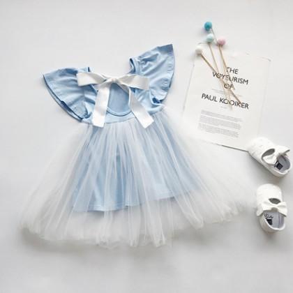 Kids Clothing Doll Princess Mesh Skirt Dress