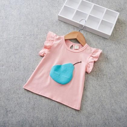Kids Clothing Cute Fruit Print Pure Cotton Shirt