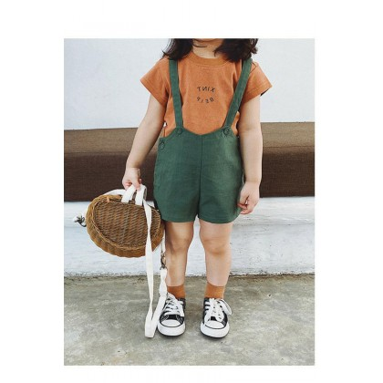 Kids Clothing Baby Suspenders Cotton High Waist Pants