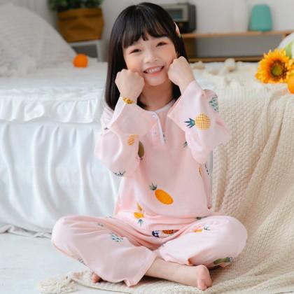 Kids Clothing Baby Cotton Silk Pajama Set