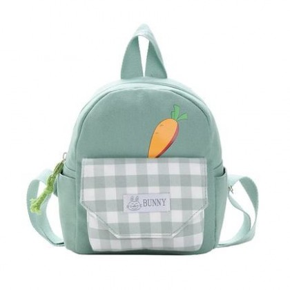 Kids Cute Baby Carrot Canvas Backpack