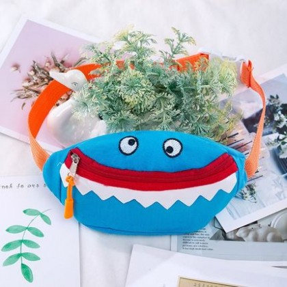 Kids Smiling Shark Casual Waist Bag