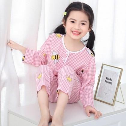 Kids Clothing Baby Long-sleeved Cotton Pajama Set