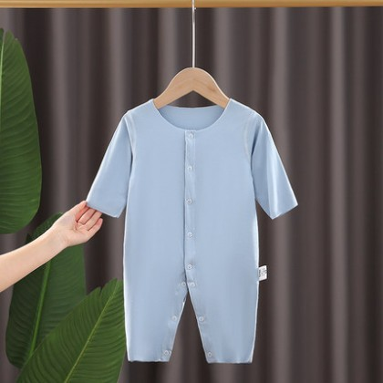 Baby Clothing Cotton Long-sleeved One-piece Seamless Pajamas